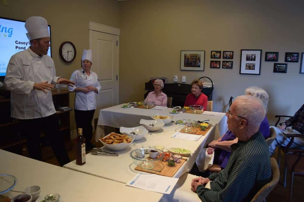 residents learning culinary