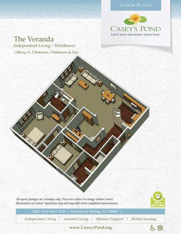 The Wildflower Independent Living Floor Plan