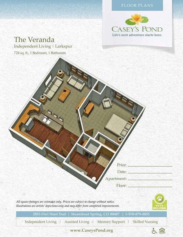 The Vernanda Independent Living Floor plan