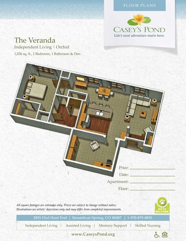 The Orchid Independent Living Floor Plan
