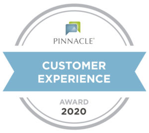 pinnacle customer experience award 2020