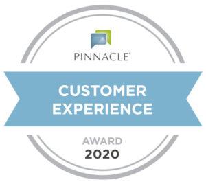 pinnacle customer experience award 2020